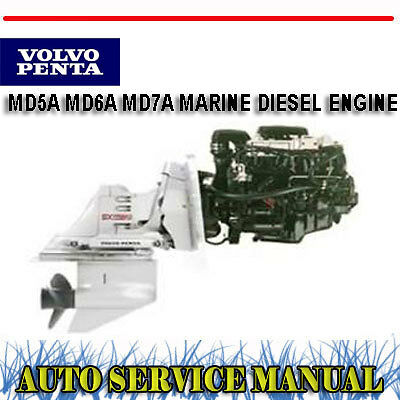 volvo penta md5a md6a md7a marine diesel engine workshop service rh ebay com au volvo penta md6b manual Volvo Penta 275 Outdrive