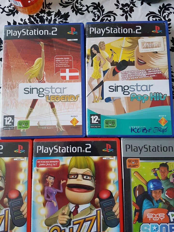 7 PS2 gode ps2 spil 30-50kr pr spil., PS2, anden genre