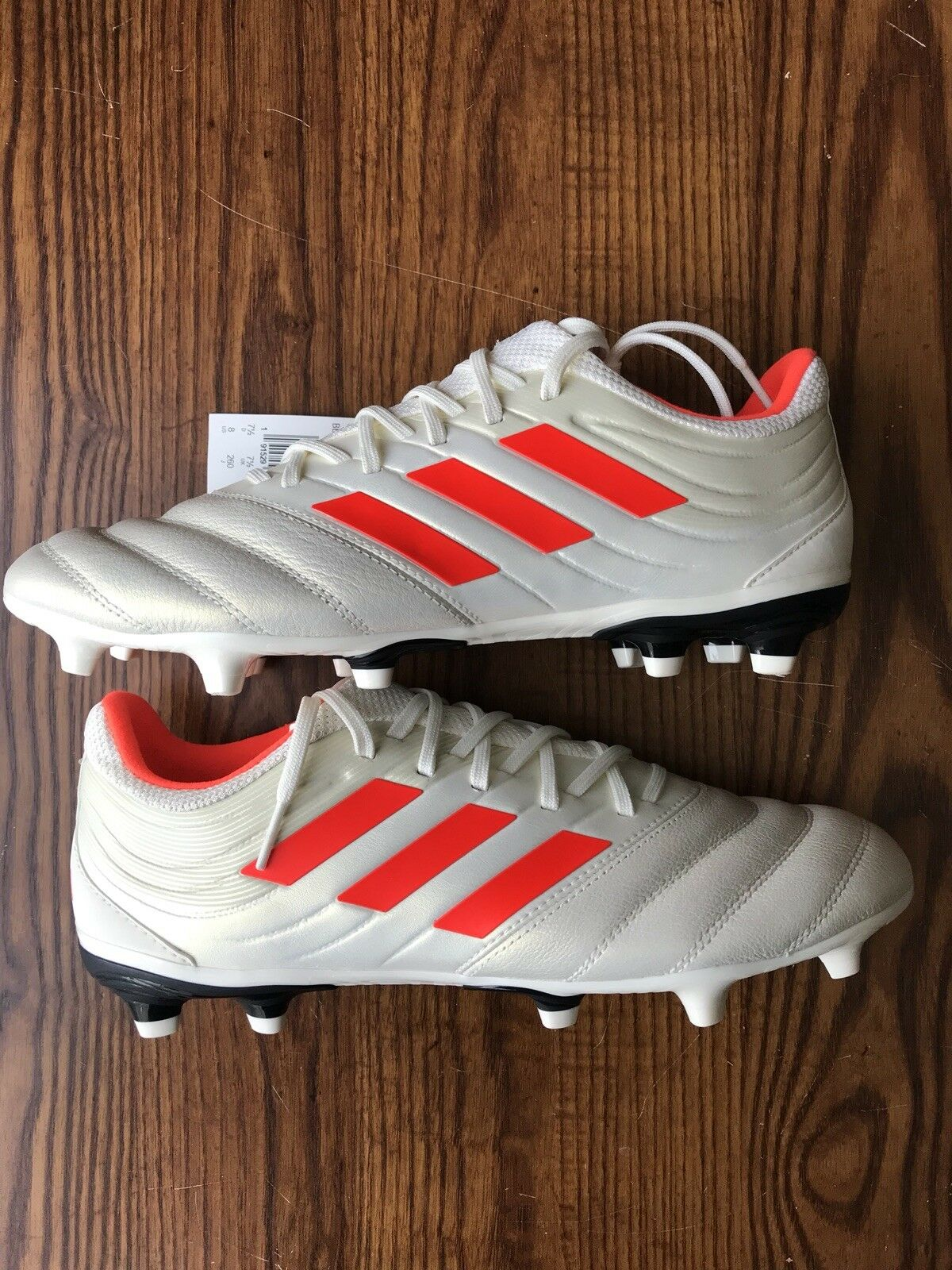ff5655e57 Adidas Copa 19.3 FG Soccer Cleats Men s Size 8 Off-White Solar Red BB9187