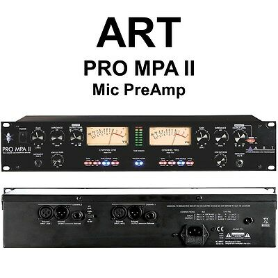 art pro mpa ii 2 channel rackmount live stage or studio mic preamp 607595981099 ebay. Black Bedroom Furniture Sets. Home Design Ideas