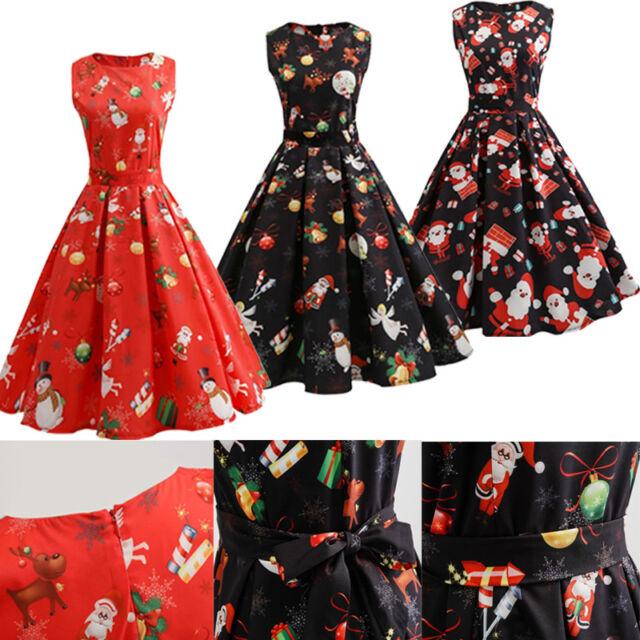 Women Hell Bunny 50's Dress Red Rockabilly Pin Up Retro Vintage Christmas XMAS