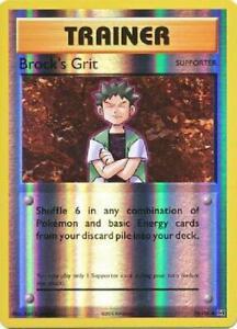 4x Brock/'/'s Grit Uncommon Near Mint Pokemon XY Evolutions 74//108
