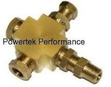 Oil Pressure & Oil Temperature Gauge Sender Adapter Block