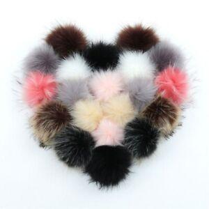 20pcs-Faux-Fur-Balls-Artificial-Plush-Pom-Poms-with-Rubber-Band-Multicolor-8cm