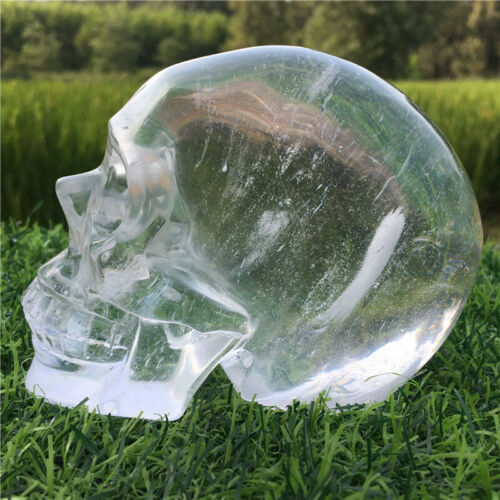 Carved Clear Melting Skull quartz stone Crystal Healing Crystal Decorate
