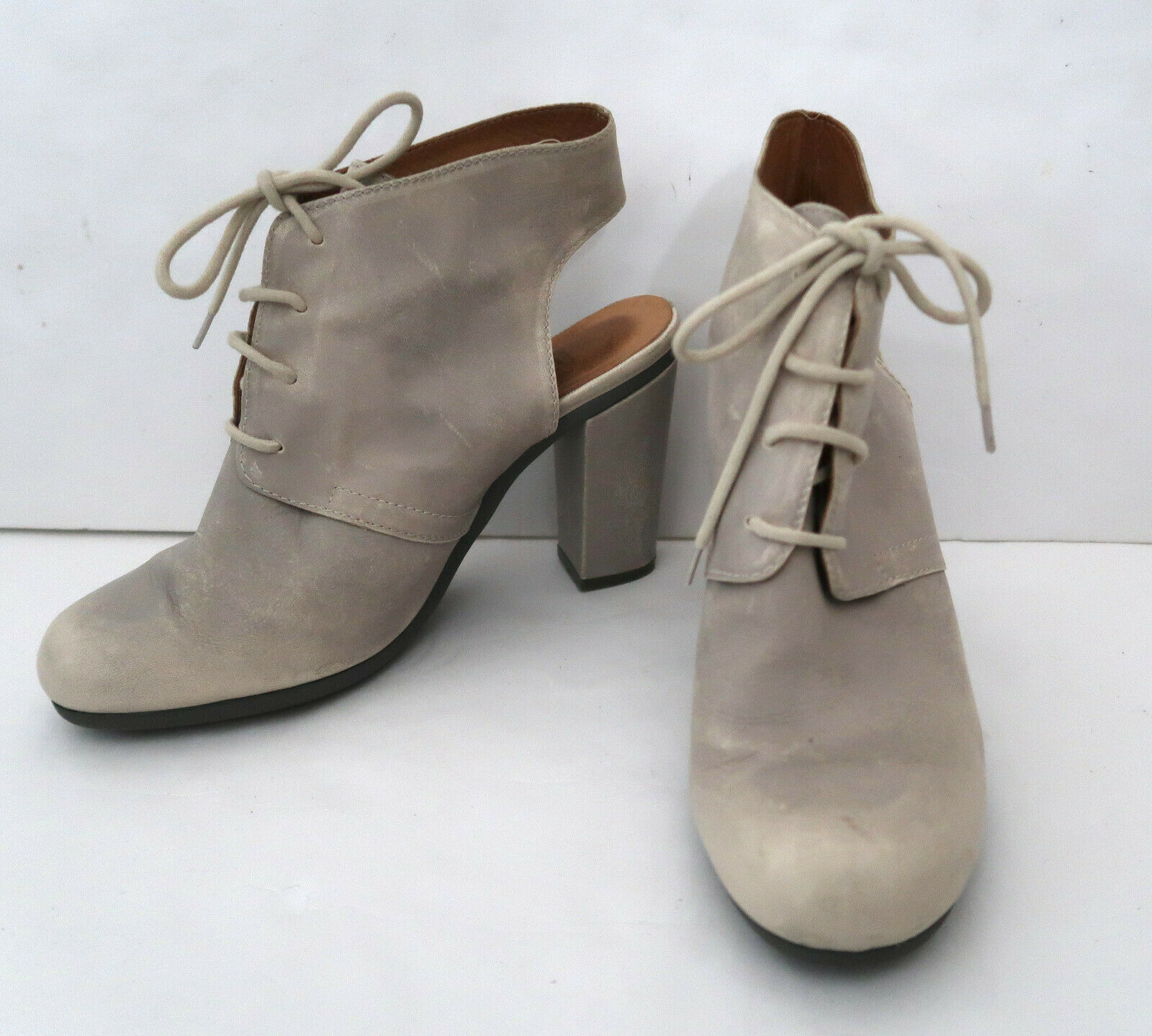 MM6 MARTIN MARGIELA distressed leather bootie sho… - image 10