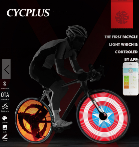 CYCPLUS Smart blutooth Bicycle Wheel Spoke Light DIY Programm Support For APP