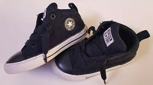 STAR HIGH TOPS SNEAKERS BLACK SIZE