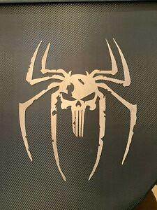 Punisher Skull Spider 5 Plasma Cut Metal Wall Art--Garage Man Cave Rat Rod
