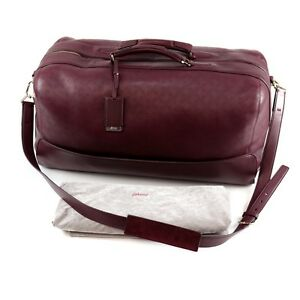 fef0b36f21 Image is loading New-BRIONI-Large-Leather-Duffle-Bag-Oxblood-Burgundy