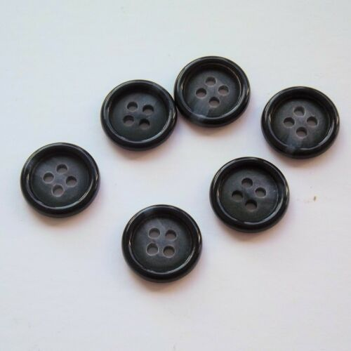 15mm Buttons 4 hole buttons Black Buttons 2b1411 Round Buttons