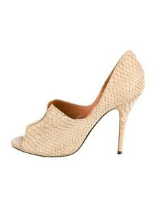 0a71655ae73 Image is loading LANVIN-Womens-Taupe-Snakeskin-Peep-Toe-High-Heel-