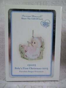 Precious Moments Ornament 2013 Baby's First Christmas GIRL ...