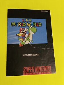 SUPER MARIO WORLD - Instruction Booklet Manual Original Book SNES SUPER NINTENDO