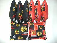 Chicago Blackhawks Cornhole Bean Bags Set Of 8 Top Qualtiy Nhl Regulation Bags S