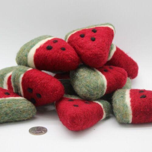 Needle felted Watermelon Slice Folk Art bowl fillers primitive Melissa Philbrook