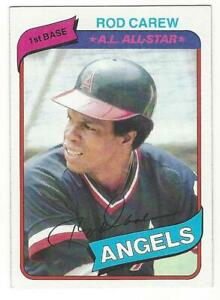 ROD-CAREW-Lot-of-2-1980-Topps-700-1984-Topps-600-NM-MT-MLB-California-Angels