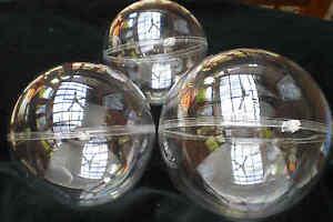 1 Kunststoffkugel 14 cm groß, Acrylkugel, Plastikkugel, teilbar, transparent