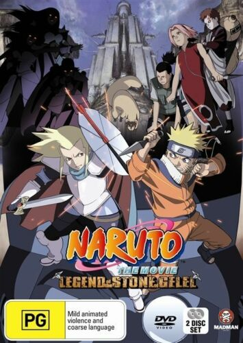 1 of 1 - Naruto - The Movie - Legend of the Stone of Gelel DVD Region 4 VGC