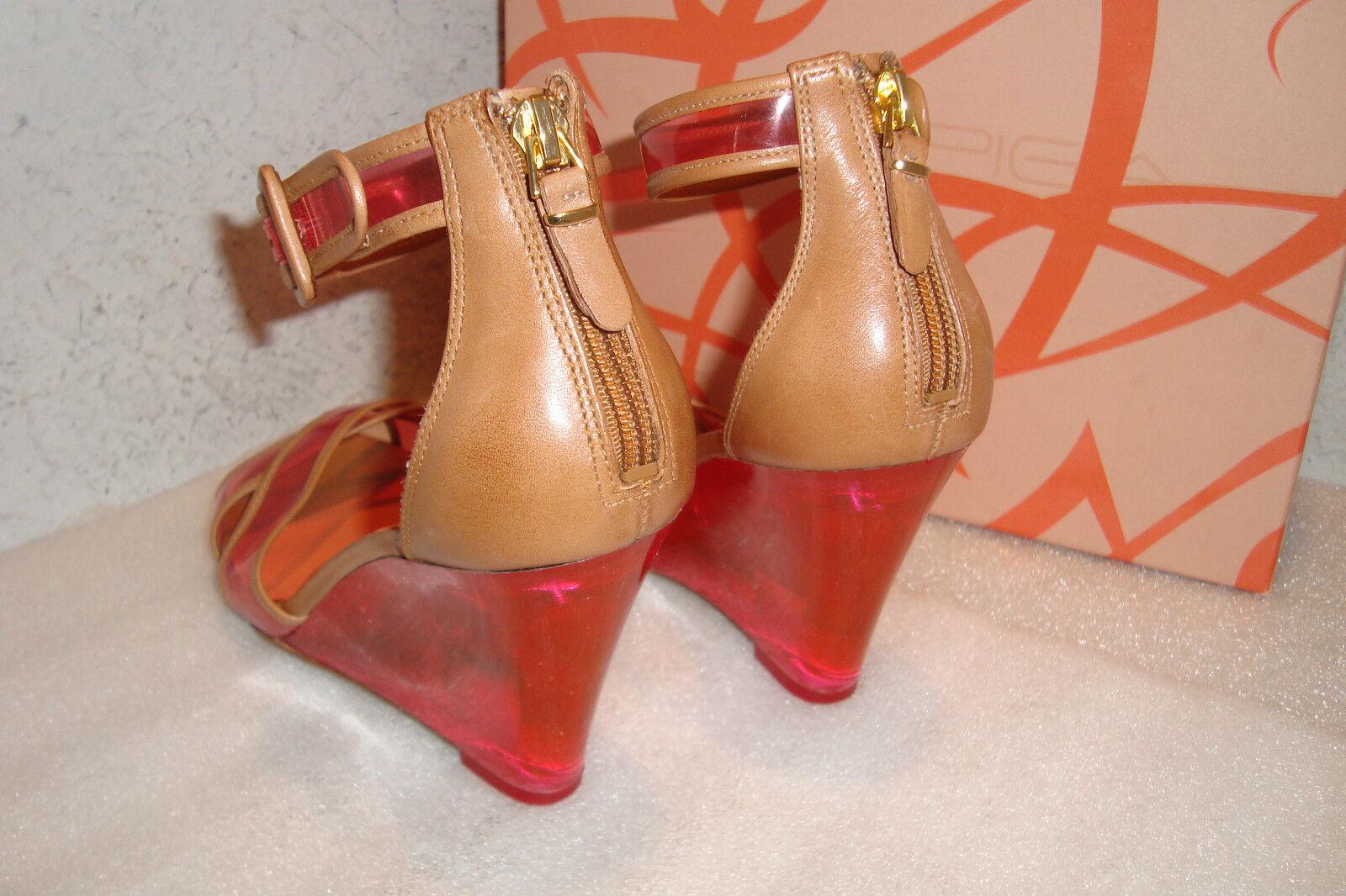 Via Spiga Womens Womens Womens NWB Biana Pink Wedge Sandals shoes 6 MED NEW b5d97b