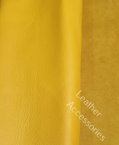 clothes patch repair high quality YELLOW leather offcut  30cm x 20cm crafts