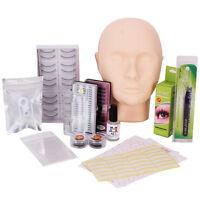 Pro Mannequin Training Makeup False Eyelashes Extension Glue Tool Practice Set