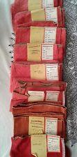Vintage Brunschwig & Fils Red Lot of Fabric Samples 8 Pieces