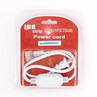 Ac Power Supply Adapter For Input 110v 3528 / 5050 Single Color Led Strip Light