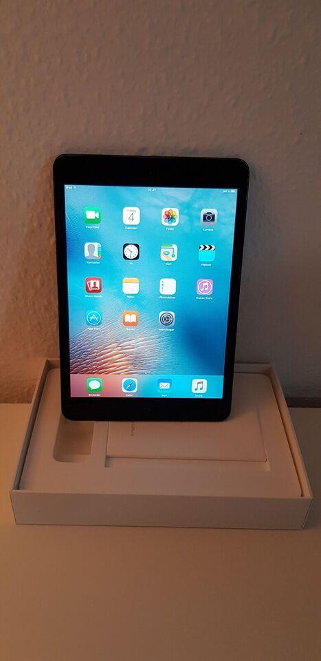 iPad mini, 16 GB, sort