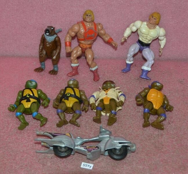 Vintage Toy Lot__He Men Motu__Nina Turtles.
