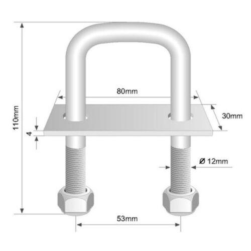 4x U-Bügel Zurrbügel Ladungssicherung Zurrhaken Zurrmulde Zurröse Bodenöse 800kg