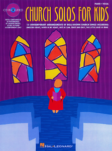 """/""""CHURCH SOLOS FOR KIDS/"""" MUSIC BOOK//CD-VOCAL SOLO-BRAND NEW ON SALE SONGBOOK!!"""