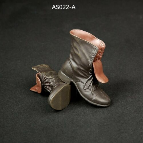 "1//6 Scale Men/'s Leather Boots Shoes For Hot Toys 12/"" Male Figure Body Clothes"