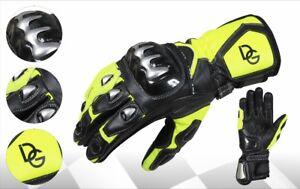 Ehrlich Deba® Motorradhandschuhe Echtes Rindsleder Gloves Mit Protektoren Aus Titanium