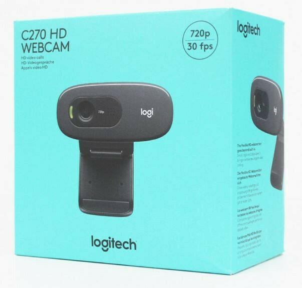 Logitech C270 HD-Webcam - Schwarz NEU OVP