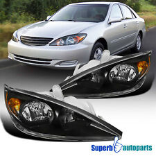 For 2002 2004 Toyota Camry Le Se Xle Replacement Black Headlights Lamps 02 04
