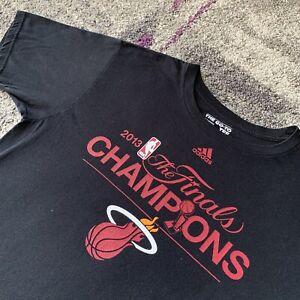2013 Adidas Nba Miami Heat Finals Champions Roster Basketball Shirt Mens Large Ebay