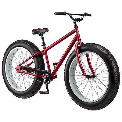 "26"" Mongoose Beast Men's Fat Tire Bike, Red"