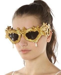 133130795201 Image is loading Linda-Farrow-x-Jeremy-Scott-Flourish-Baroque-Gold-