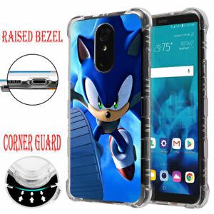 For Lg Stylo 4 4 Plus Raised Edge Slim Protective Case Sonic Hedgehog J Ebay