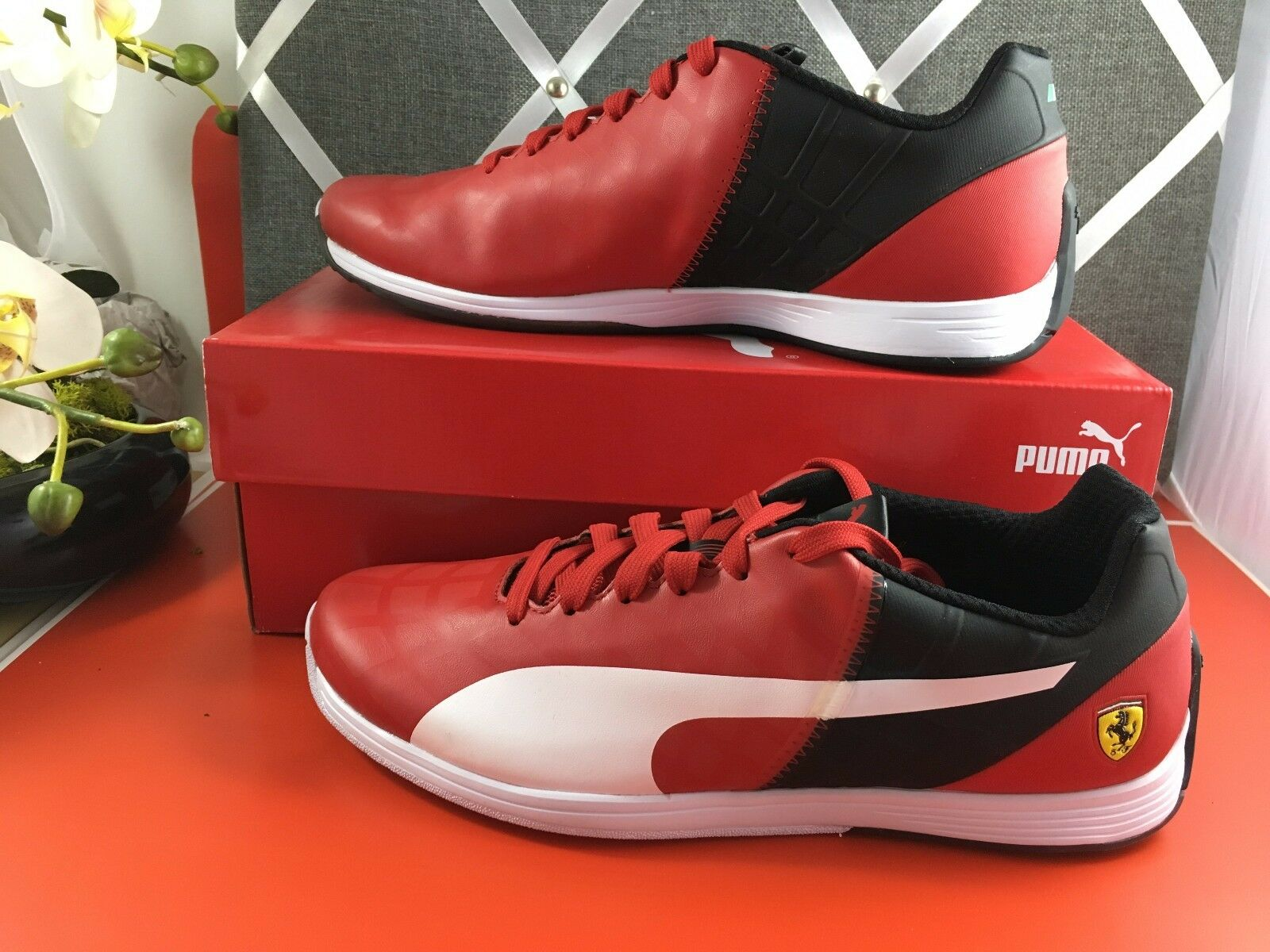NEW in BOX PUMA evoSPEED 1.4 SF Men's shoes sneakers  RED 305555 02