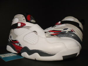 6ba8197c73a0 2013 Nike Air Jordan VIII 8 Retro WHITE BLACK RED BUGS BUNNY OG ...