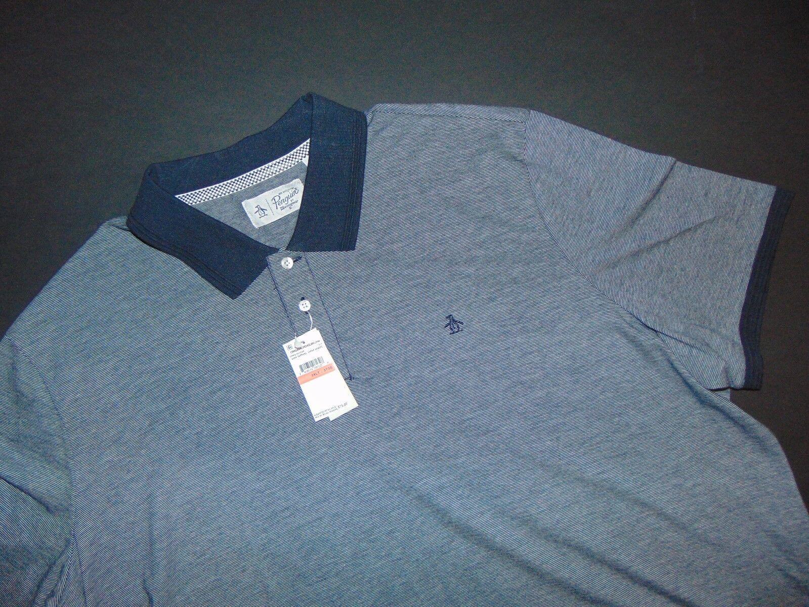 NWT, ORIGINAL PENGUIN Men's Polo Shirt  3XLT  Big & Tall  100% Cotton  NEW