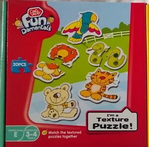 Chad-Valley-Fundamentals-Animal-Texture-20-Piece-Puzzle-Brand-New