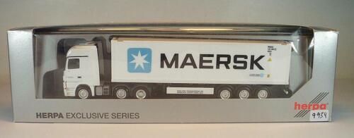 Herpa 1//87 Mercedes Benz 2555 Sattelzug mit 40ft MAERSK Container OVP #9934
