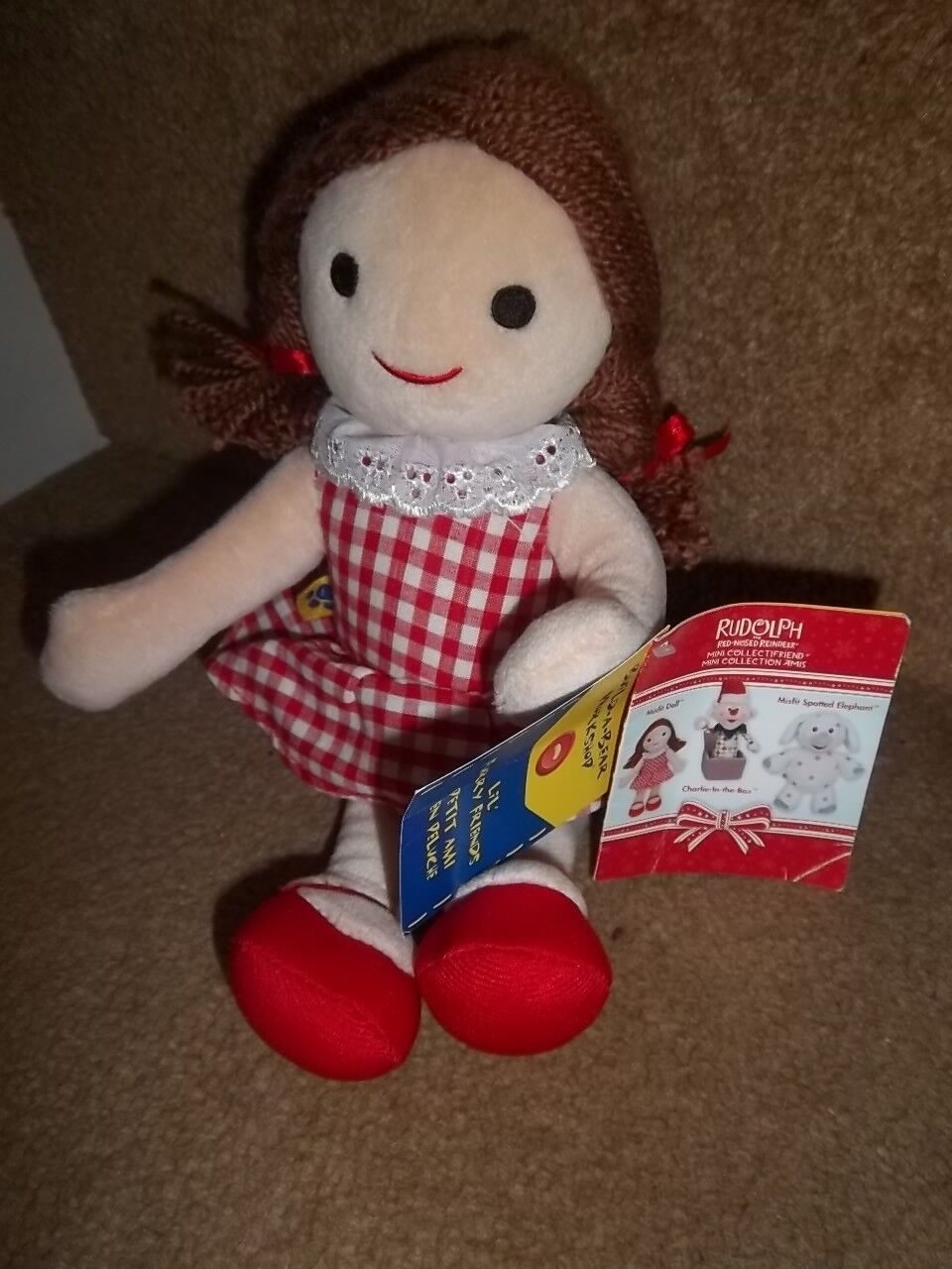NEW 2010 RUDOLPH MISFIT DOLL BUILD A BEAR MINI COLLECTION SOFT TOY PLUSH
