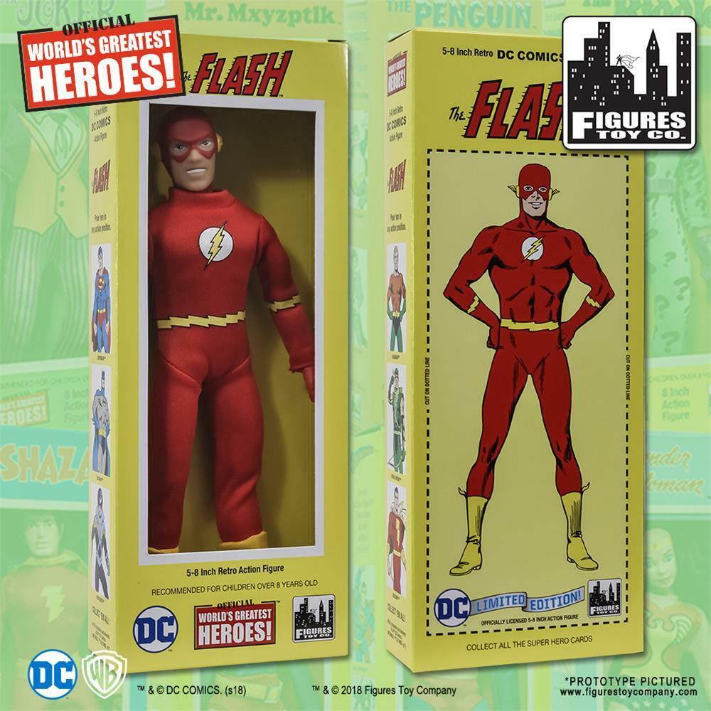 DC Comics retro FLASH 8 Inch action figure with classic retro styled box NEW