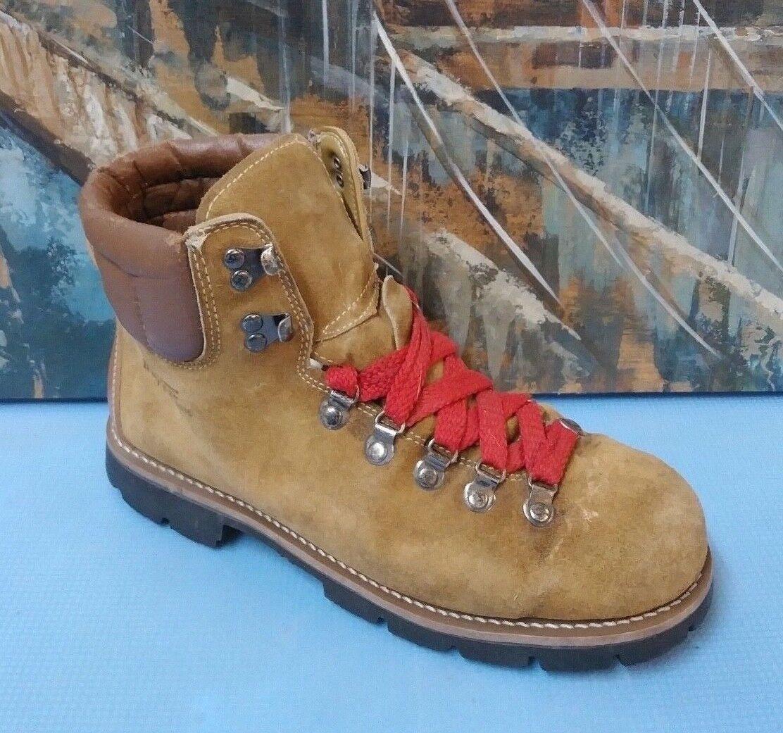Trapper braun leather hiking trail work Stiefel Vibram mens 10