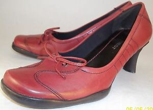 ecce314d756c Nine West Womens US 6M Red Leather Bow Loafer Style Slip-on Heels ...