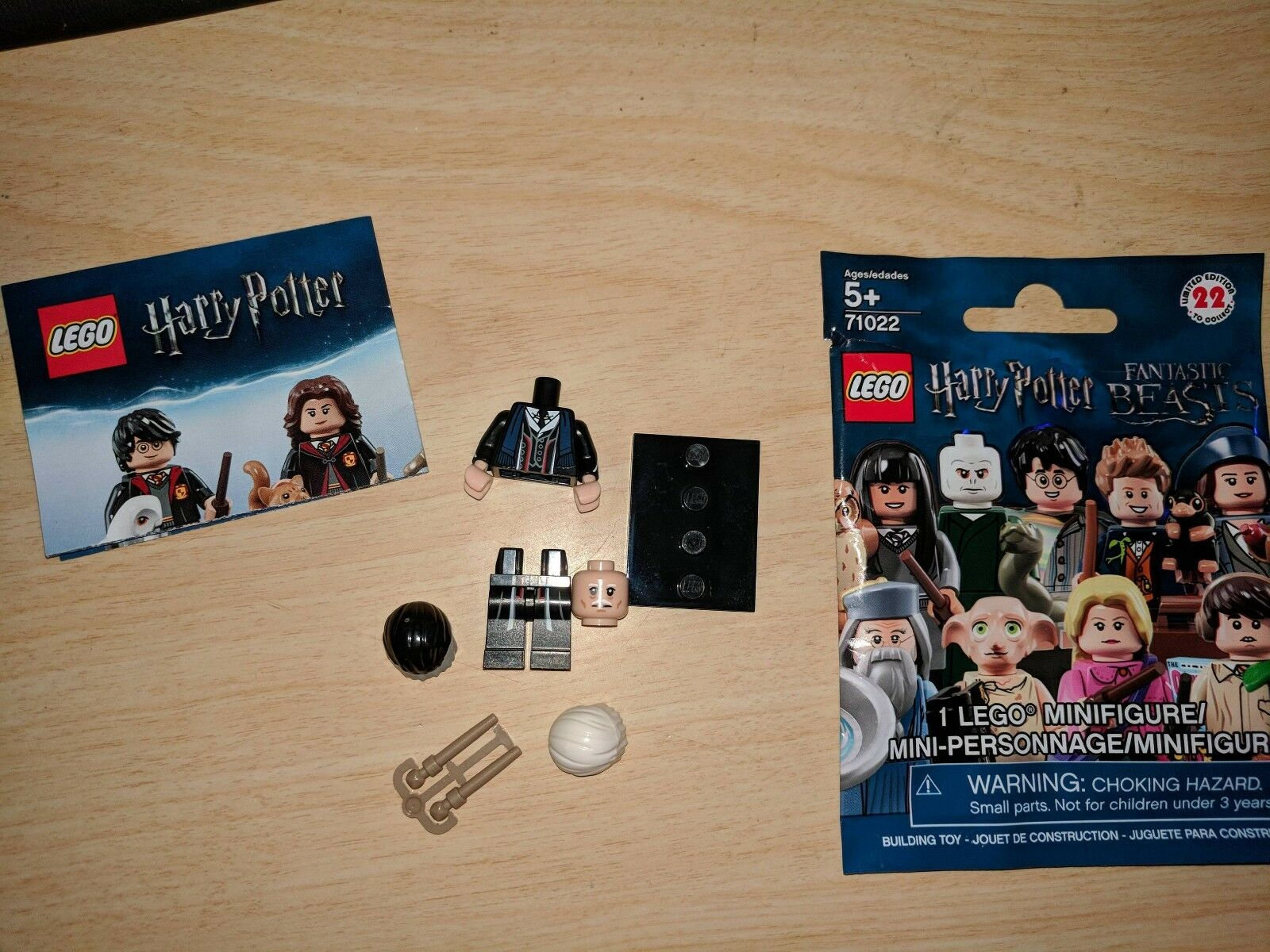 Lego Harry Potter 71022 Percival Graves Minifigure Minifigur Rare